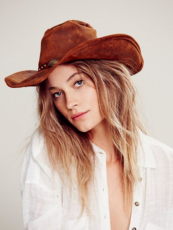 Minnetonka Silverton Leather Rancher Hat available at Free People for $50.00