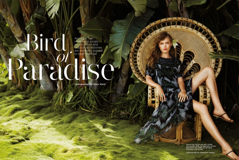 frida gustavsson summer california hilary walsh1 Frida Gustavsson Heads to the Tropics for C Magazine by Hilary Walsh