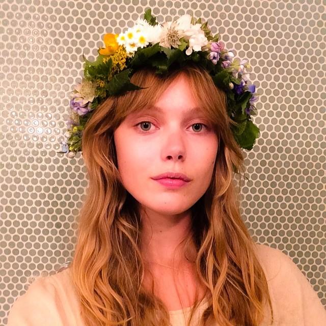 Frida Gustavsson celebrates Sweden's midsummer