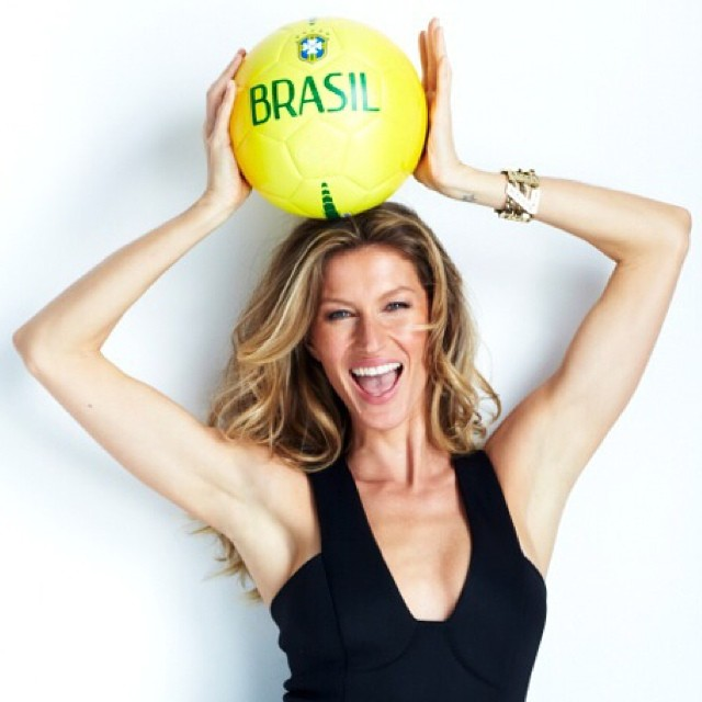 Gisele Bundchen showing her support for Team Brazil. Photo: model's Instagram