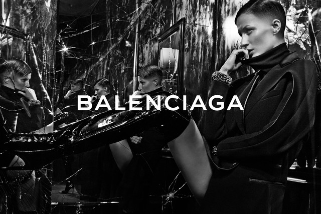 gisele bundchen balenciaga fall 2014 campaign photo Gisele Bundchen Models Short Hair in Balenciaga Fall 14 Campaign