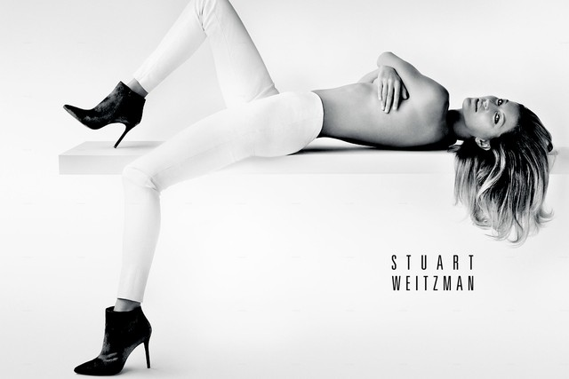 First Look | Gisele Bundchen Goes Topless in Stuart Weitzman's Fall 2014 Campaign