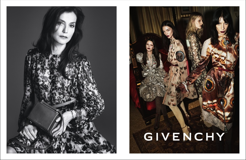 givenchy fall winter 2014 campaign photos3 More Photos from Givenchys Fall 2014 Campaign with Isabelle Huppert, Kendall Jenner + More