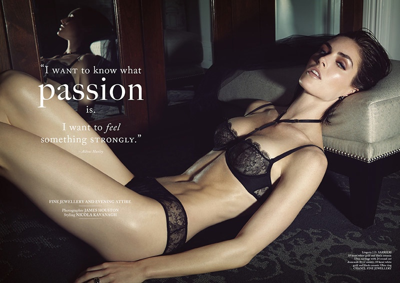 hilary rhoda lingerie shoot1 Hilary Rhoda Wears Lingerie for Glass Magazine by James Houston