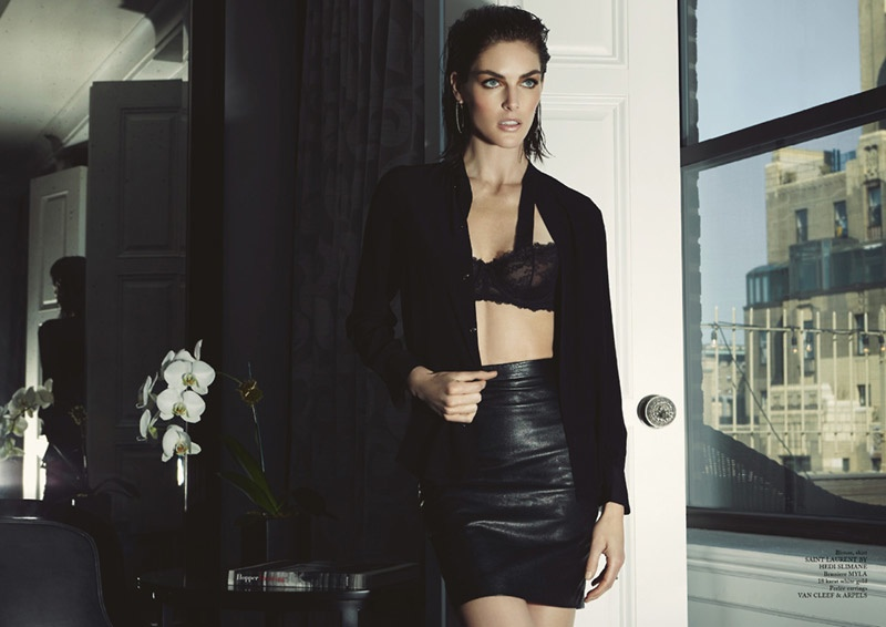 hilary rhoda lingerie shoot4 Hilary Rhoda Wears Lingerie for Glass Magazine by James Houston