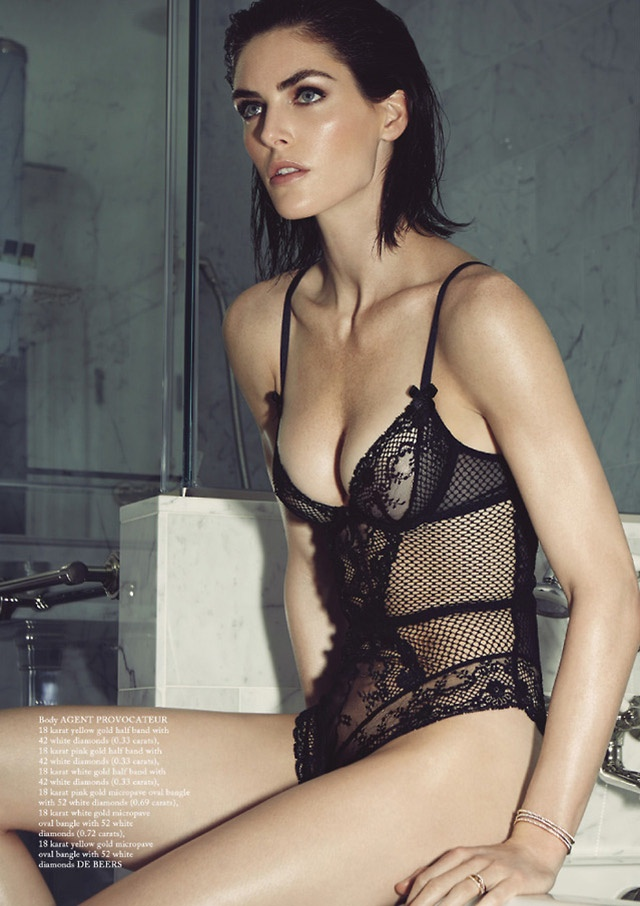 hilary rhoda lingerie shoot5 Hilary Rhoda Wears Lingerie for Glass Magazine by James Houston