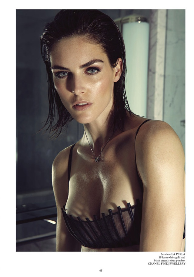 hilary rhoda lingerie shoot6 Hilary Rhoda Wears Lingerie for Glass Magazine by James Houston