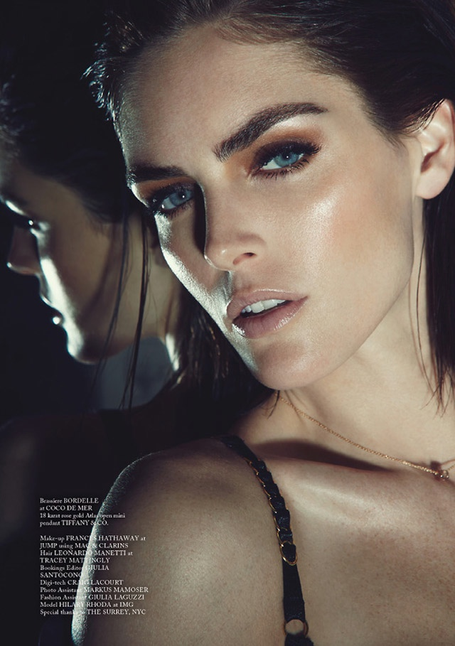 hilary rhoda lingerie shoot8 Hilary Rhoda Wears Lingerie for Glass Magazine by James Houston
