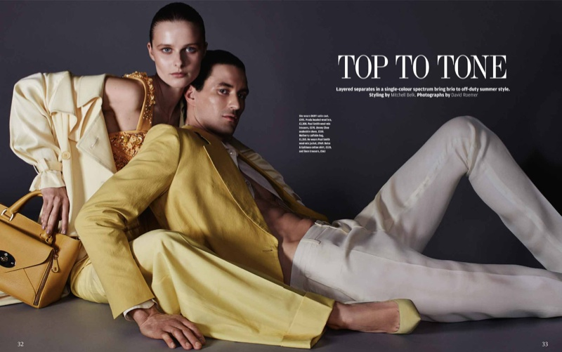 his her fashion shoot1 His & Hers Style: Vasilisa Pavlova by David Roemer for How to Spend It