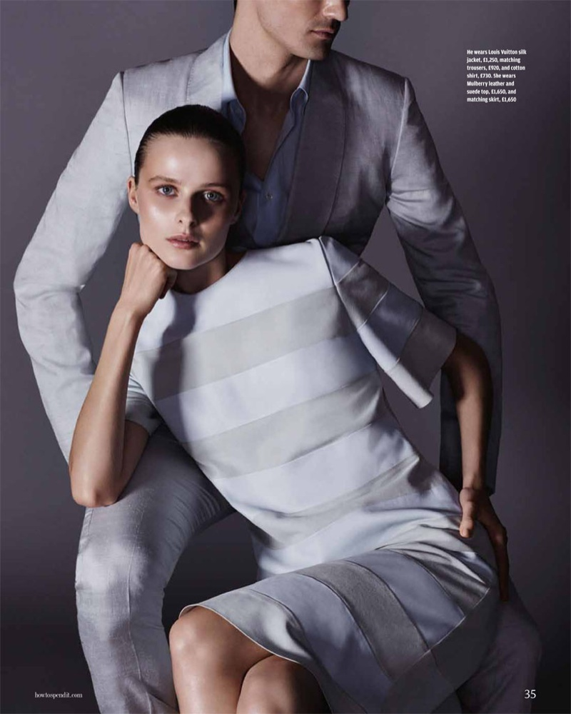 his her fashion shoot2 His & Hers Style: Vasilisa Pavlova by David Roemer for How to Spend It