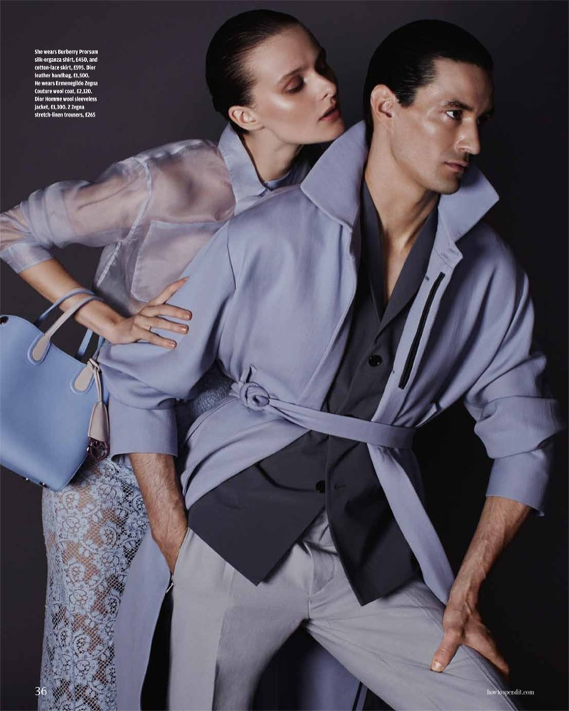 his her fashion shoot3 His & Hers Style: Vasilisa Pavlova by David Roemer for How to Spend It