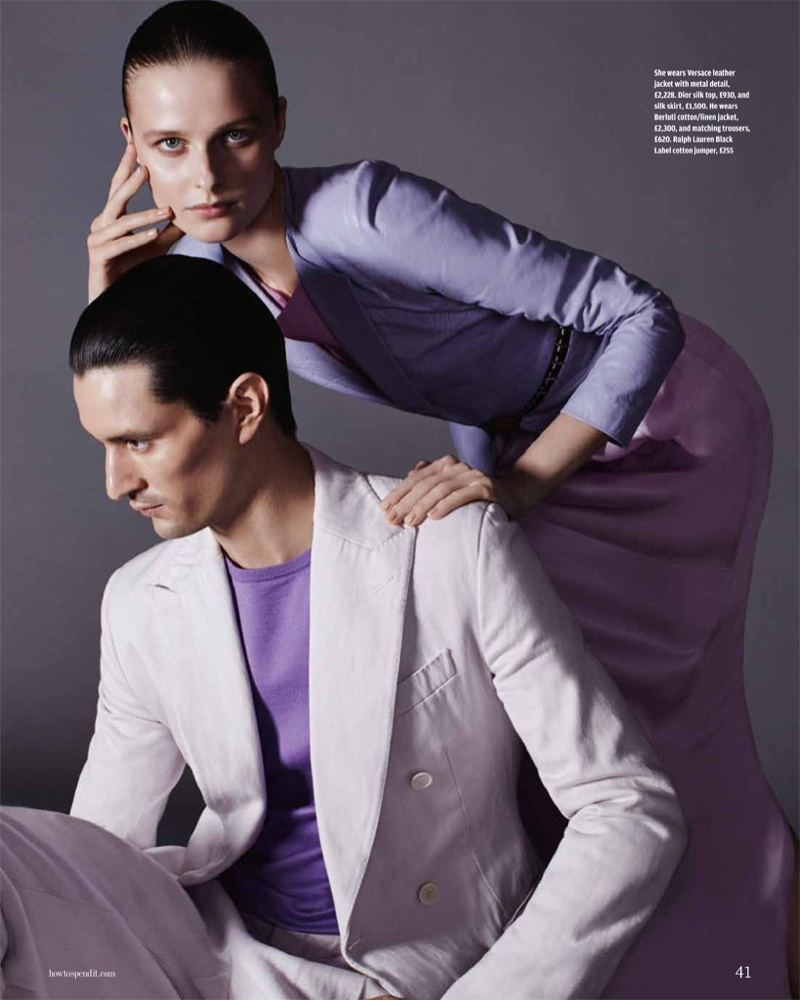 his her fashion shoot7 His & Hers Style: Vasilisa Pavlova by David Roemer for How to Spend It