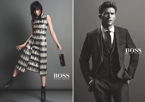 hugo boss fall 2014 campaign1 Jason Wu Taps Edie Campbell for His First Hugo Boss Campaign