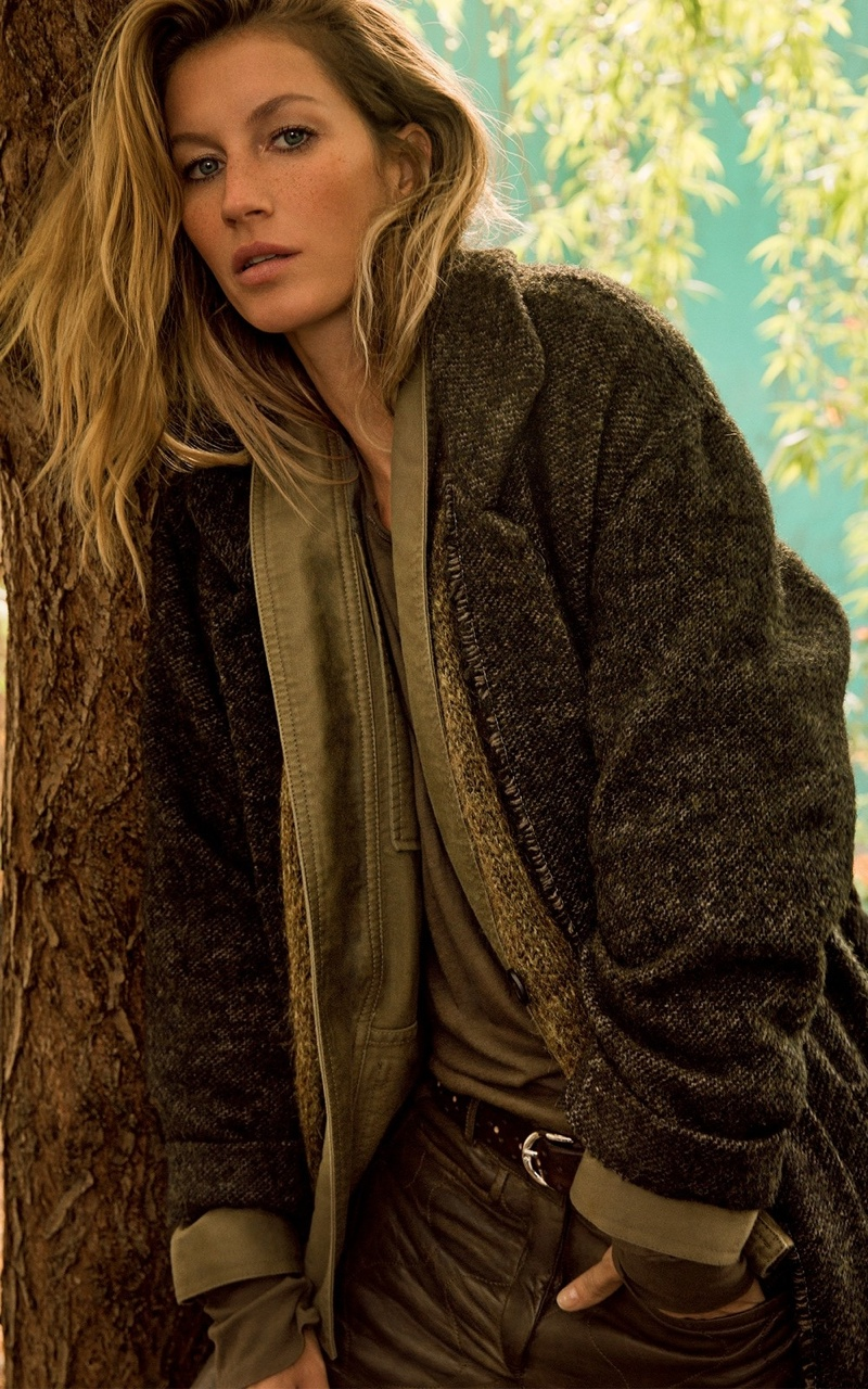 Gisele Bundchen Poses in Isabel Marant Fall 2014 Campaign