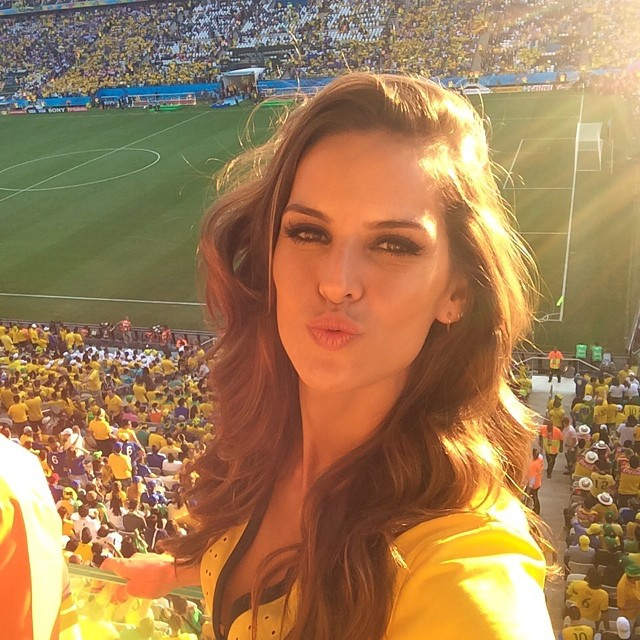 Izabel Goulart has World Cup fever