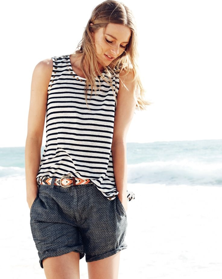 j crew july 2014 style guide8 Ieva Laguna Poses for J. Crews July Style Guide