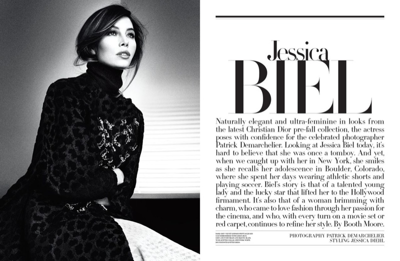jessica biel dior magazine photo shoot1 Jessica Biel is Sitting Pretty in Dior Magazine by Patrick Demarchelier