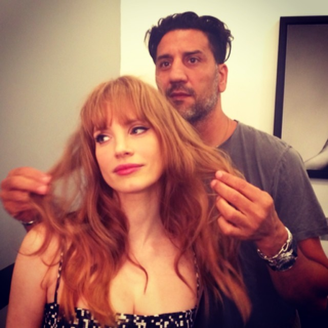 Hair Inspiration: Jessica Chastain Reveals New Bangs Style