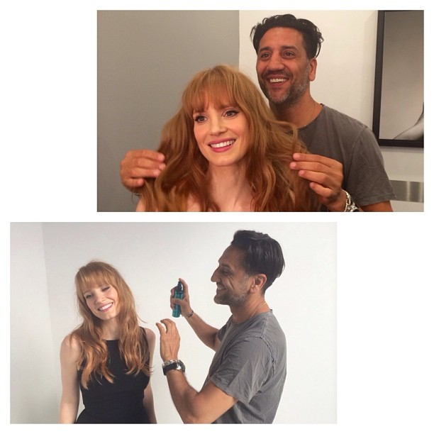 jessica chastain bangs Hair Inspiration: Jessica Chastain Reveals New Bangs Style