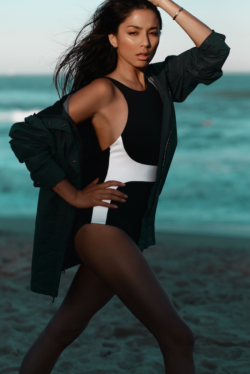 jessica gomes swimwear model3 Jessica Gomes is Beach Ready in David Jones Shoot by Margaret Zhang