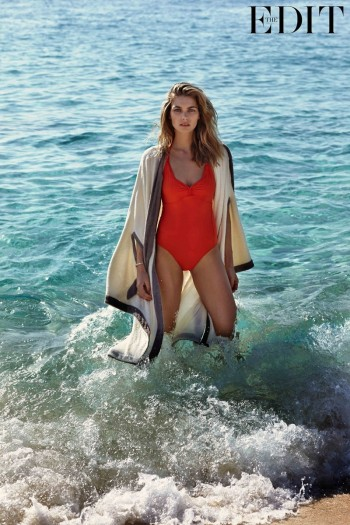Jessica Hart Models Swimsuits for The Edit, Reveals Favorite Places to Travel