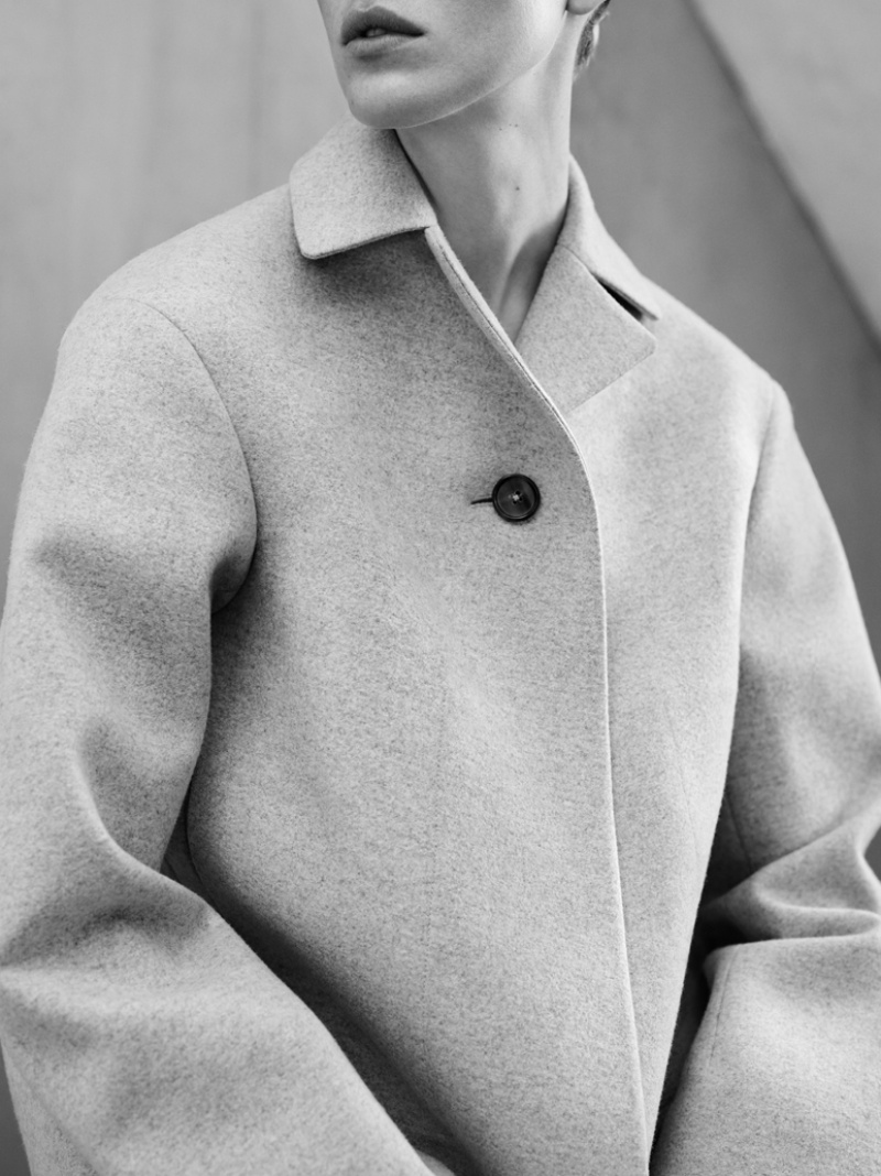 jil sander fall winter 2014 campaign2  Jil Sander Keeps it Simple for Fall 2014 Ads with Iselin Steiro