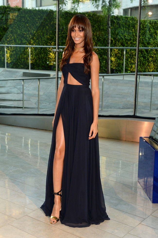 Joan Smalls wore a sexy Prabal Gurung look