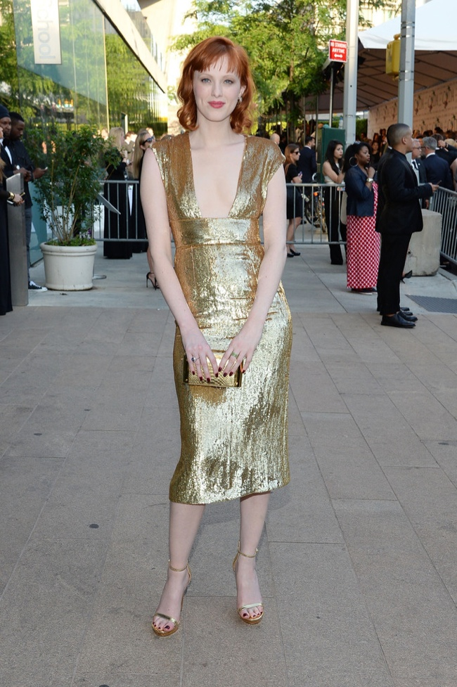 Karen Elson shined in Michael Kors