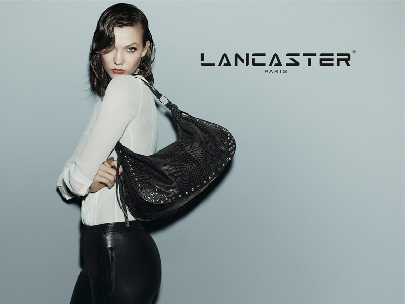 karlie kloss lancaster fall winter 2014 campaign photos5 Karlie Kloss Models Wet Hair, Handbags for Lancaster Paris Fall 2014 Campaign