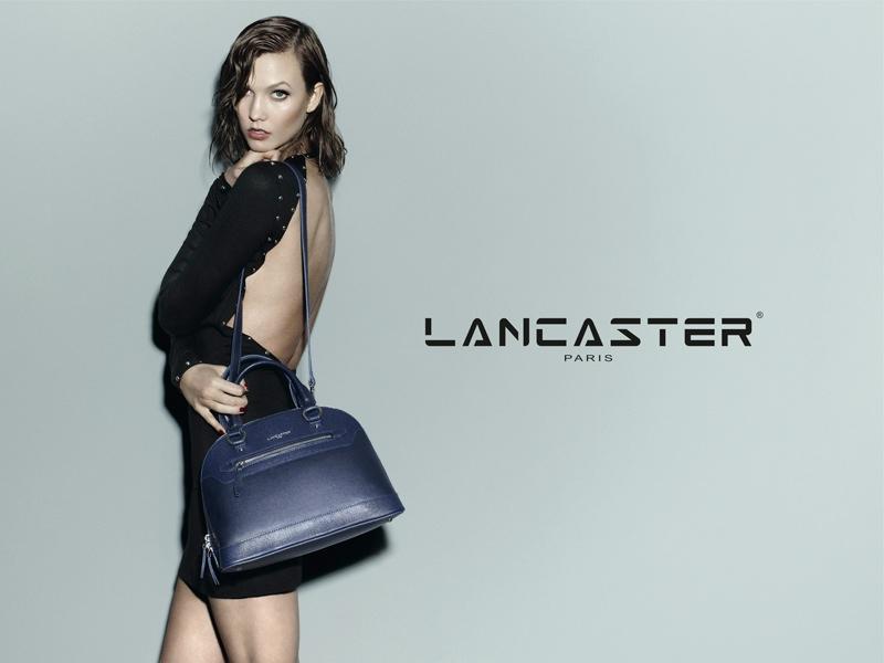 Karlie Kloss Models Wet Hair, Handbags for Lancaster Paris Fall 2014 Campaign