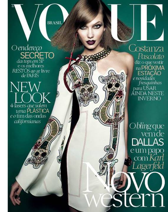 karlie kloss vogue brazil 2014 cover Karlie Kloss Gets Dark for Vogue Brazil July 2014 Cover