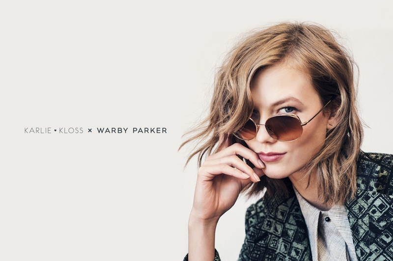 karlie kloss warby parker glasses1 Check Out Karlie Kloss' New Warby Parker Sunglasses Collaboration