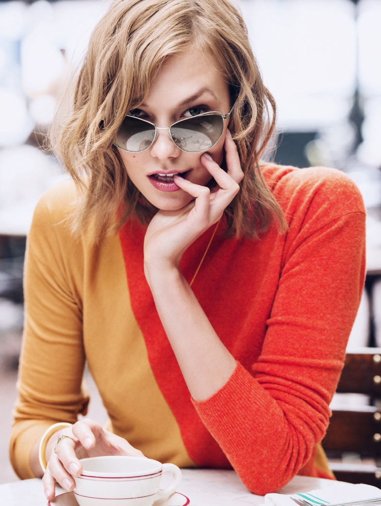 karlie kloss warby parker glasses2 Check Out Karlie Kloss' New Warby Parker Sunglasses Collaboration
