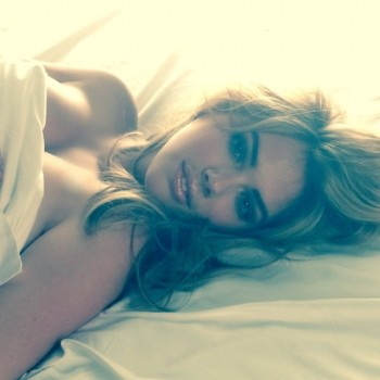 Kate Upton Lays in Bed for Upcoming Mert & Marcus Shoot