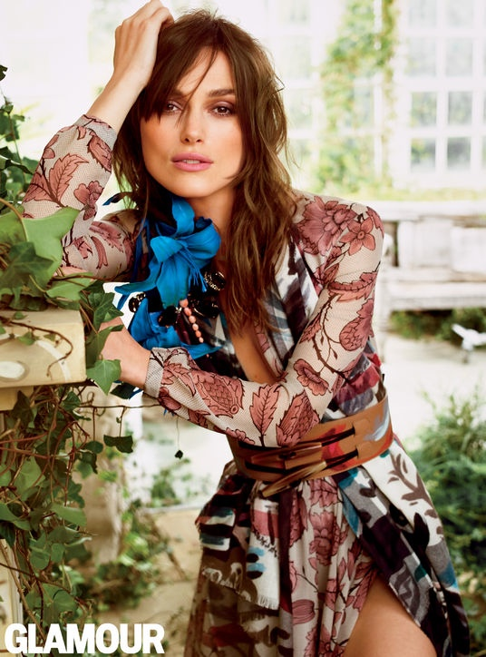 keira knightley bohemian style3 Keira Knightley Wears Bohemian Style for Glamour Cover Shoot