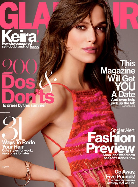 keira knightley bohemian style5 Keira Knightley Wears Bohemian Style for Glamour Cover Shoot
