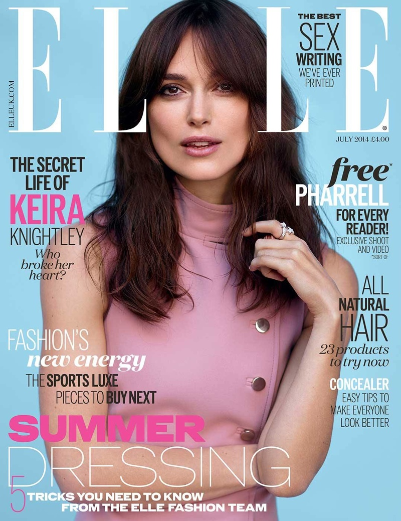 keira knightley elle uk 2014 cover Keira Knightley Covers ELLE UK, Says She Wouldn't Let Teenage Daughter Act