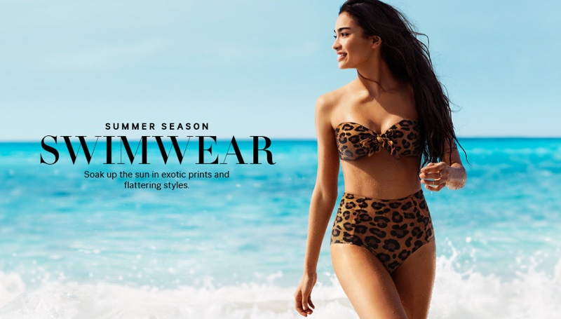 kelly gale model1 Kelly Gale is Ready for Summer in H&M Swimwear Shoot