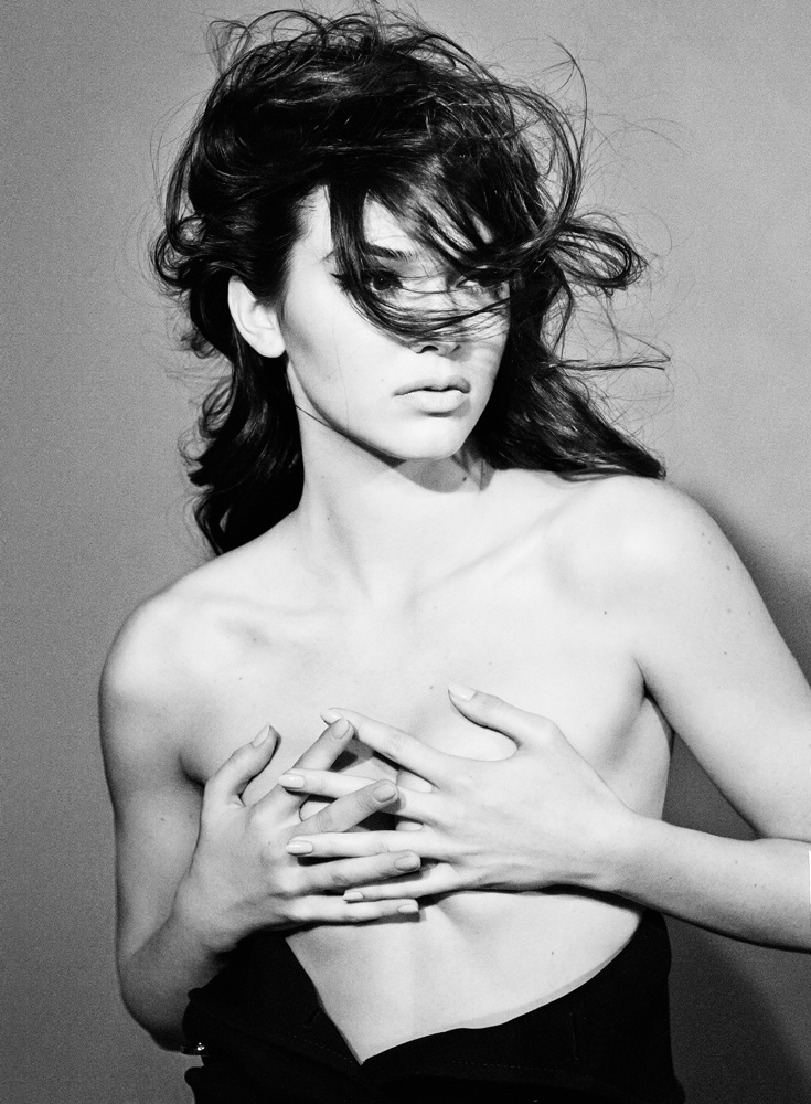 kendall jenner interview shoot4 Kendall Jenner Goes Topless for Interview, Says She Always Wanted to Be a Model