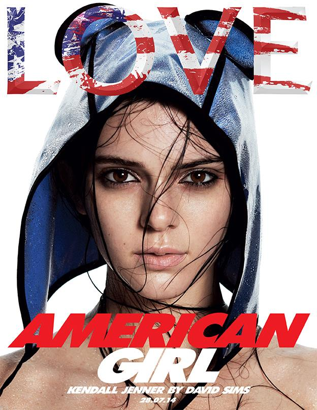 Kendall Jenner is an American Girl for LOVE's F/W 2014 Cover