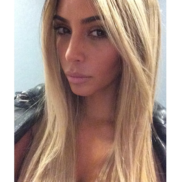 kim blonde wig Kim Kardashian is Back to Blonde & Shooting with Carlyne Cerf de Dudzeele