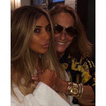 Kim Kardashian is Back to Blonde & Shooting with Carlyne Cerf de Dudzeele