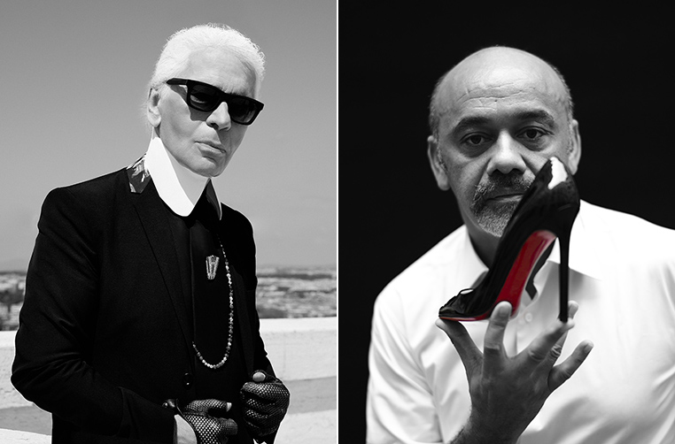 Image: Karl Lagerfeld & Christian Louboutin. Photos from Louis Vuitton Iconoclasts Site