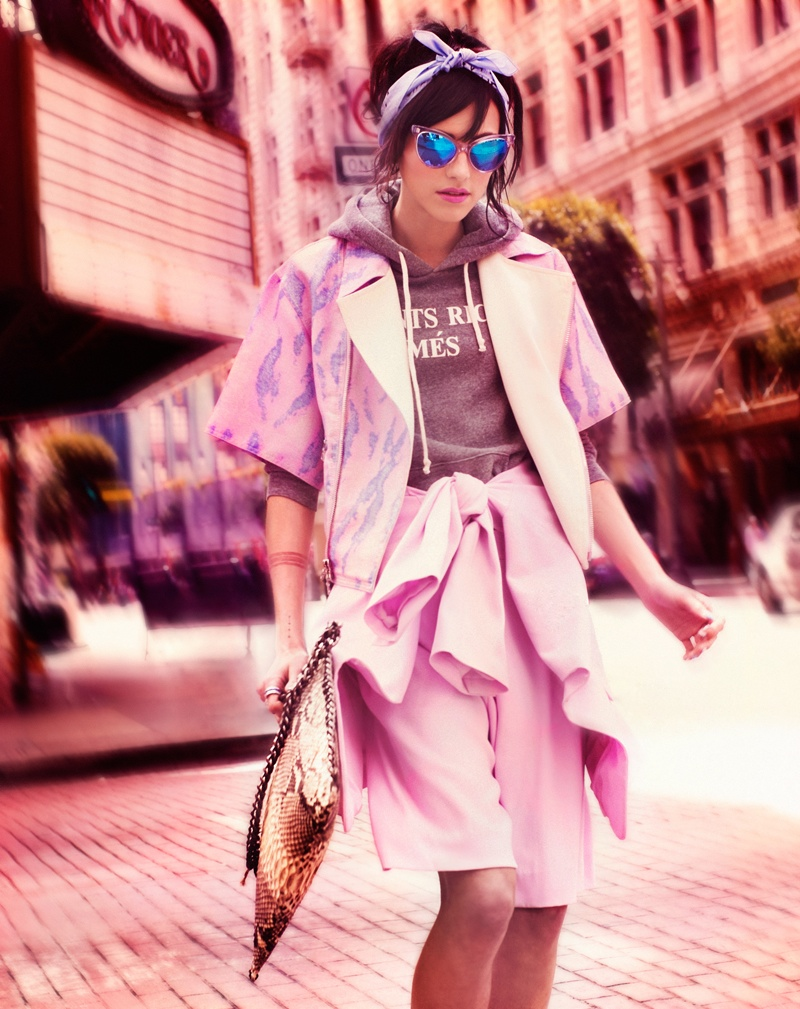 langley fox hemingway model5 Langley Fox Hemingway is City Chic for Bazaar China by Markus&Koala