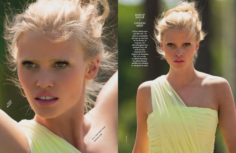lara stone hans feuerer2 Lara Stone is 'Sexy & Soft' for Hans Feurer Shoot in Elle France