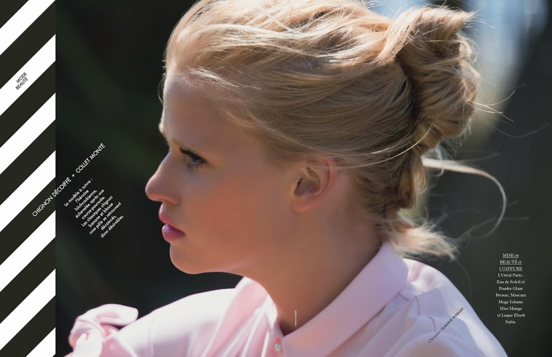lara stone hans feuerer4 Lara Stone is 'Sexy & Soft' for Hans Feurer Shoot in Elle France