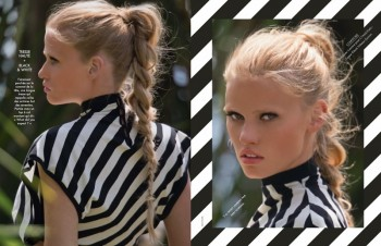 Lara Stone is 'Sexy & Soft' for Hans Feurer Shoot in Elle France