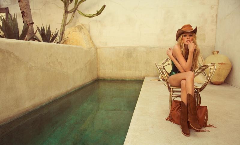 lara stone inez vinoodh10 Lara Stone Stuns for Inez & Vinoodh in Western Glam Porter Magazine Feature