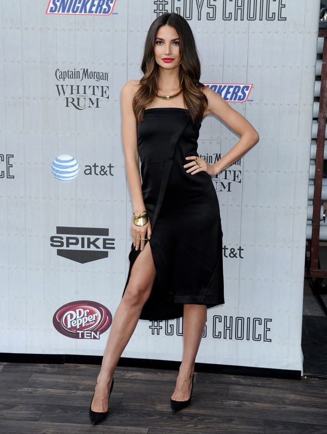 lily aldridge 10 crosby derek lam dress 2014 Spike Guys Choice Awards Style: Jessica Alba, Emily Ratajkowski + More