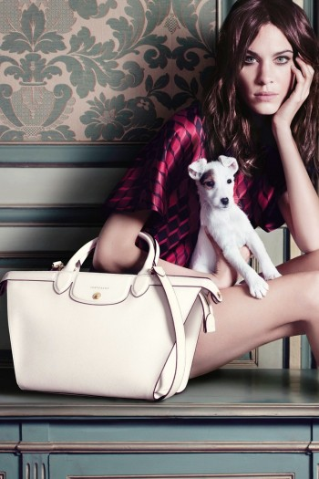 Alexa Chung Poses with Pup for Longchamp Fall 2014 Campaign
